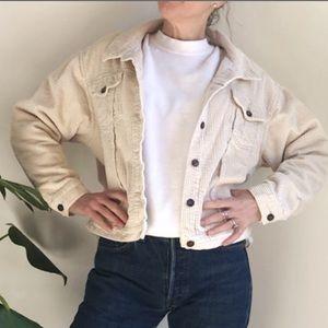 Vintage corduroy jacket in cream color